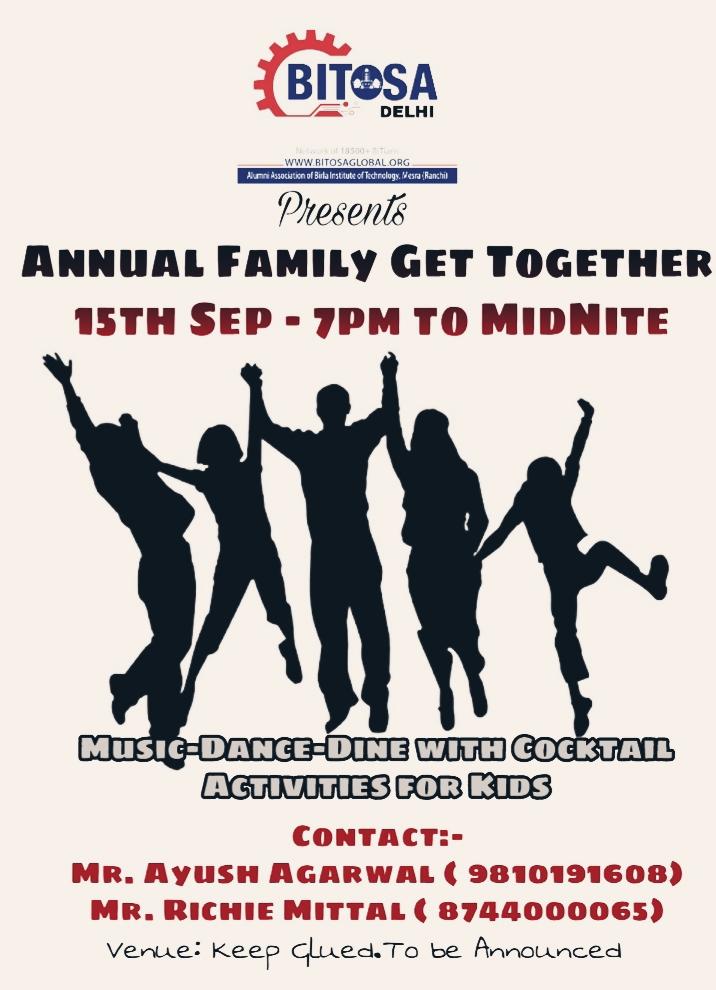bitosa bitosa delhi annual family get together