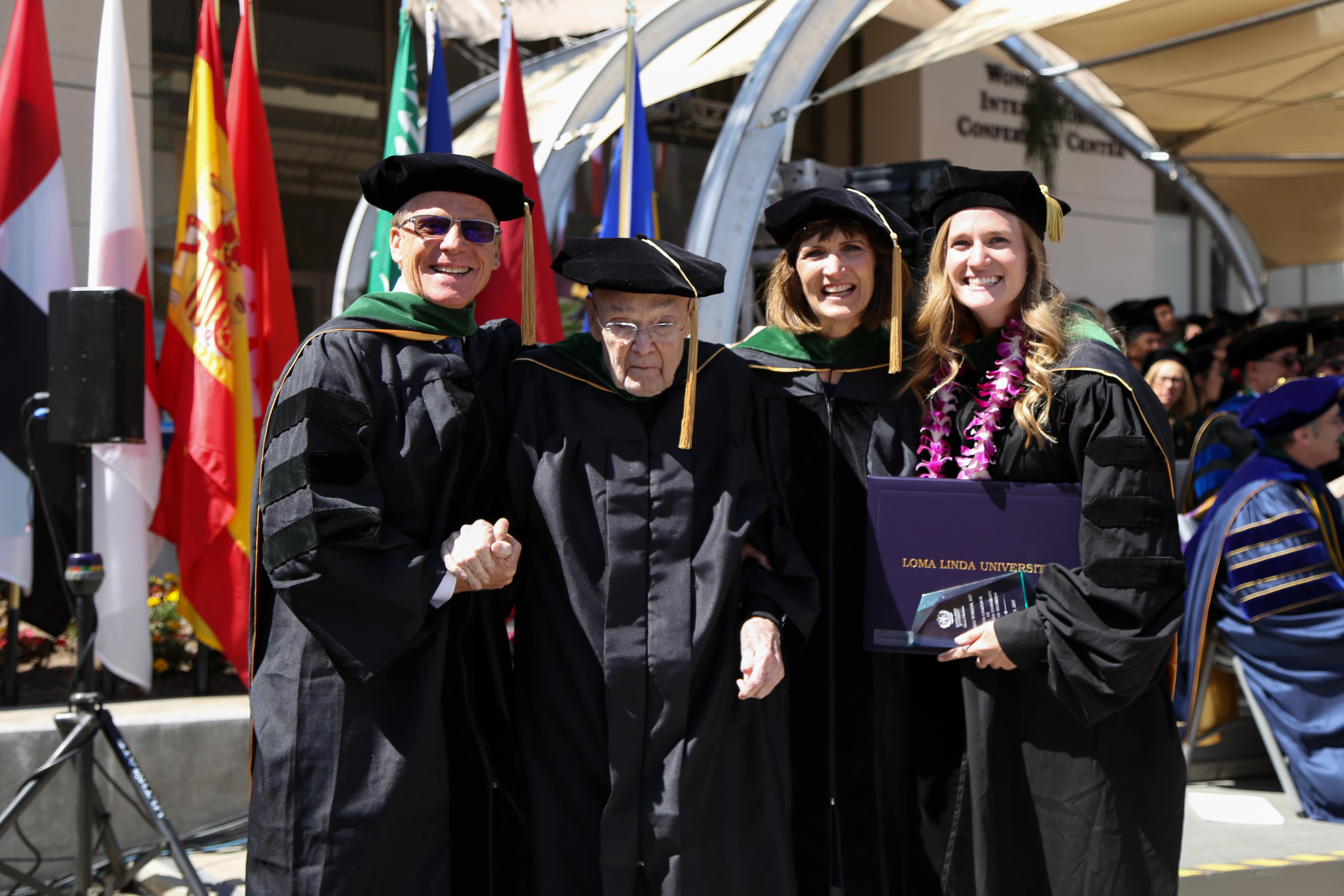 The Wheeler family at graduation 2017.