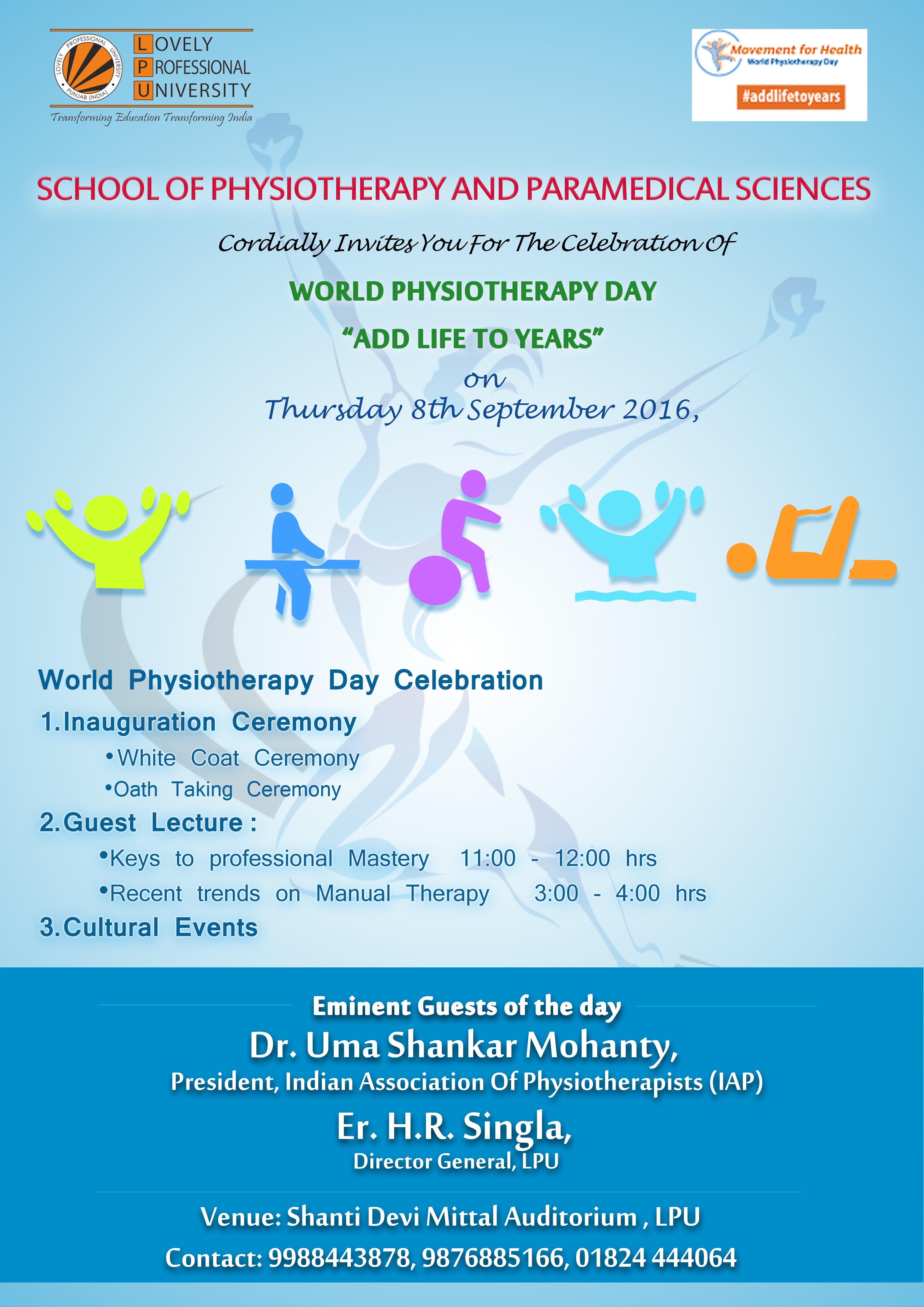 LPU - Inaugural Session World Physiotherapy Day